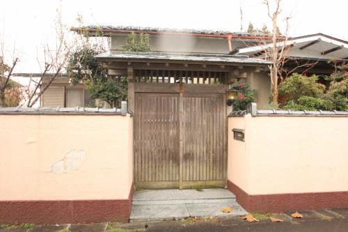白河市のリフォーム実例、和を愛する家~数奇屋風~施工前勝手門