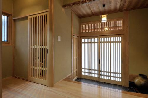 白河市のリフォーム実例、和を愛する家~数奇屋風~施工後玄関
