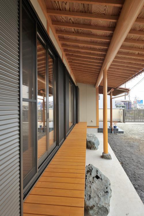 白河市のリフォーム実例、和を愛する家~数奇屋風~施工後濡縁