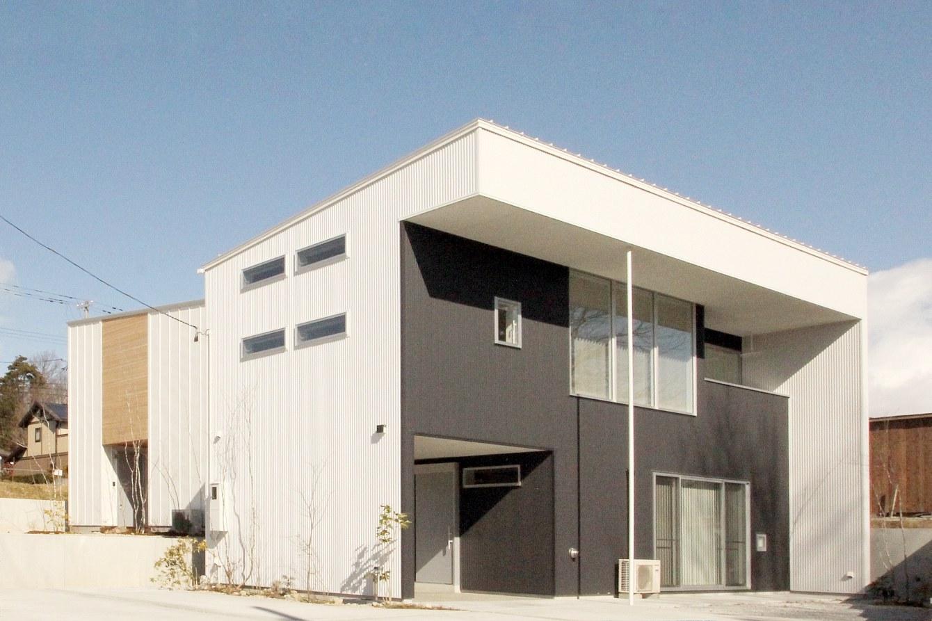田村市の施工例、コンパクト&北欧デザインの家・外観