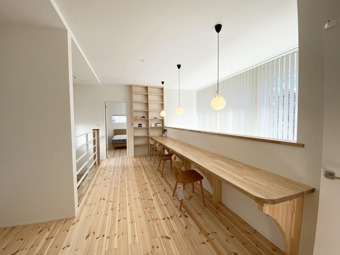 田村市の施工例、コンパクト&北欧デザインの家フリースペース