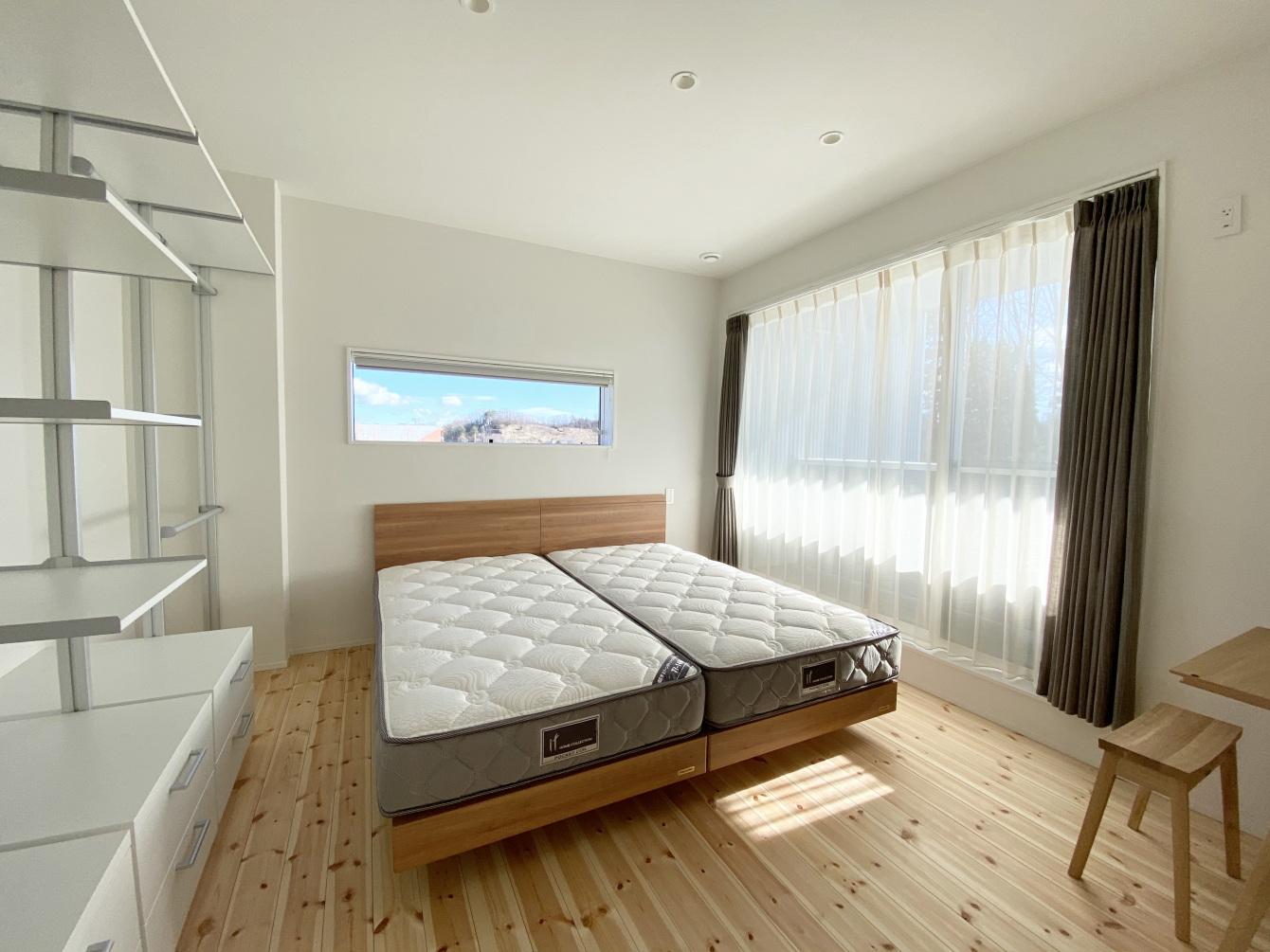 田村市の施工例、コンパクト&北欧デザインの家寝室