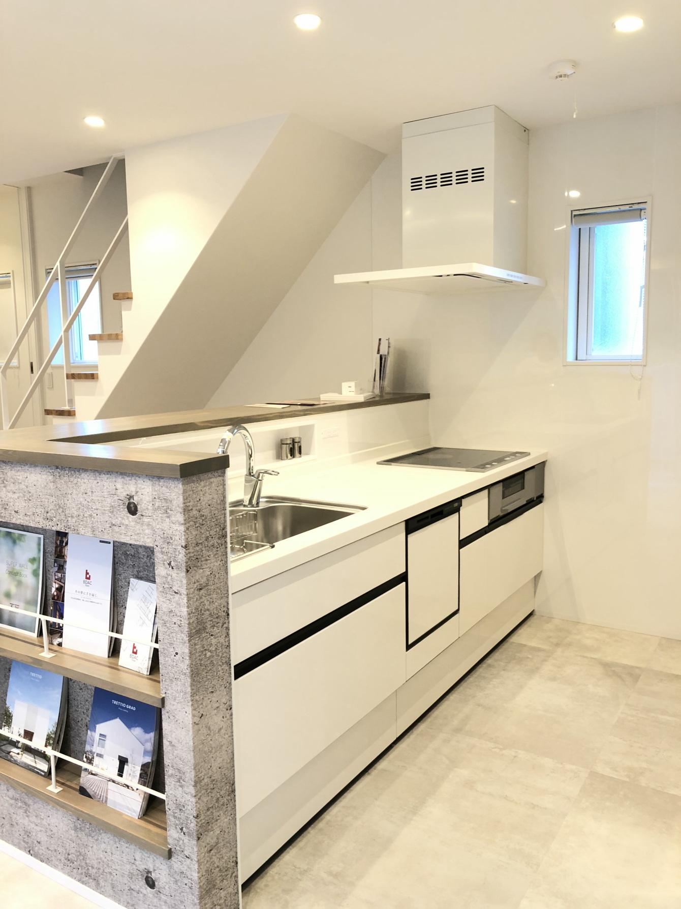 田村市の施工例、コンパクト&北欧デザインの家キッチン