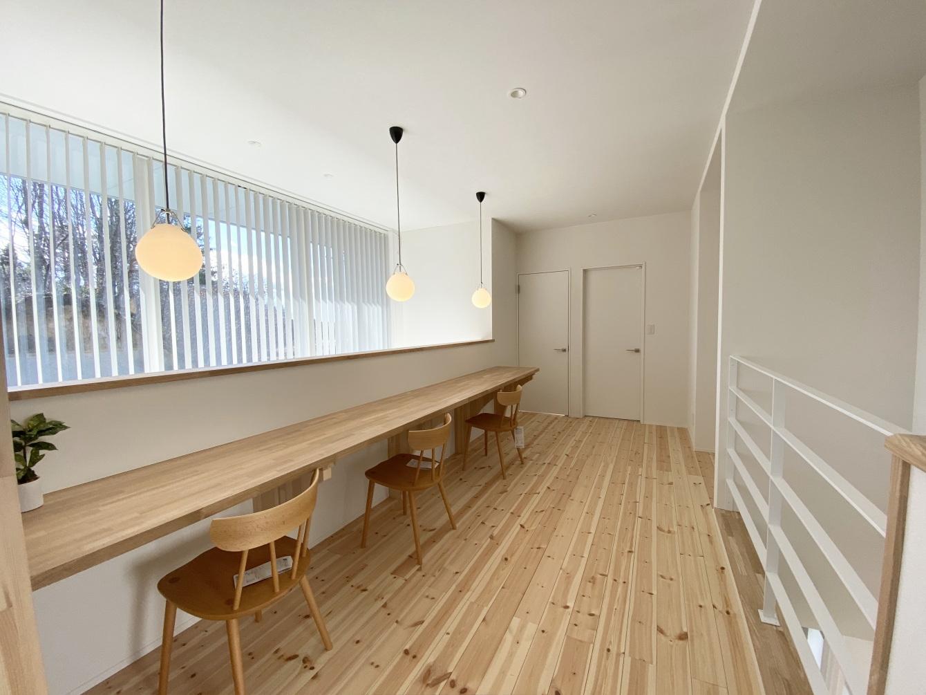 田村市の施工例、コンパクト&北欧デザインの家フリースペース2
