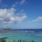 グアムでホテルから見渡す海