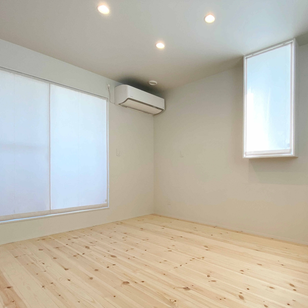 エアコンを取り付けたトレッティオ・アルクの主寝室