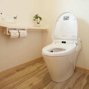 明るく落ち着いた雰囲気のトイレ