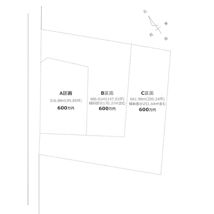 源次郎分譲地の区画図